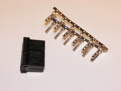 1 Harley 12x Black OEM Amp/Tyco Multi-lock MALE conector+terminals