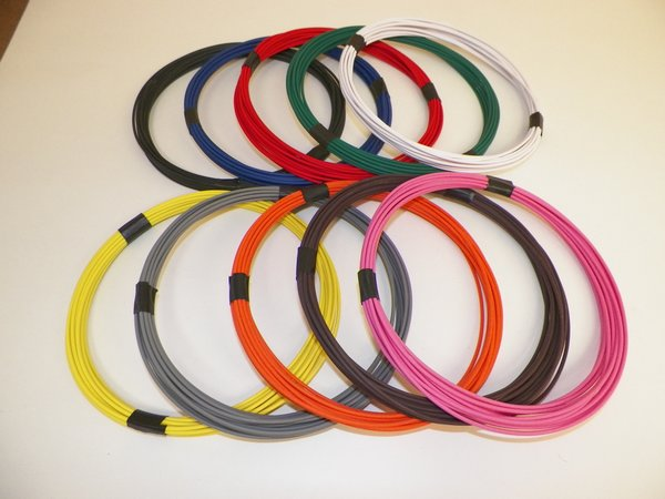 16 gauge GXL automotive wire solid striped colors high temp oem ...