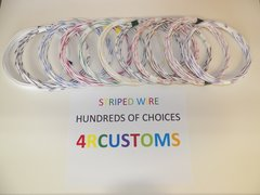 18 gauge GXL wire - Individual White Striped Color and Size Options