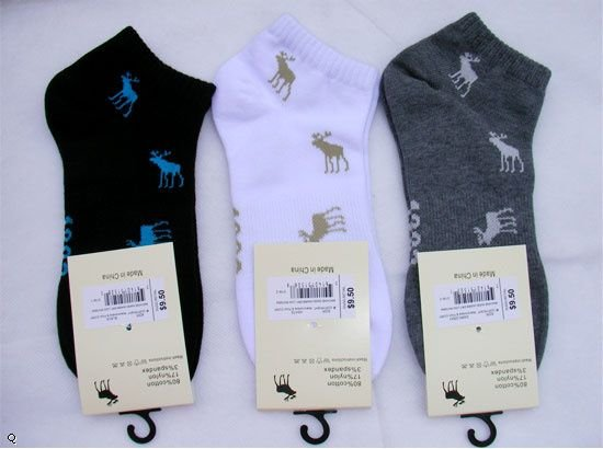 Abercrombie & Fitch 'One Size Fits All' Ankle Socks (Shipping Included)