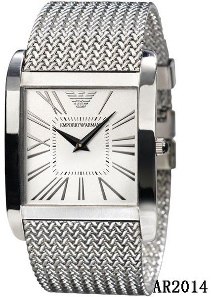 Men's Emporio Armani AR2014 Silver Stainless-Steel Quartz Watch