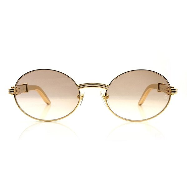 Cartier Vintage Double Gold Giverny Luxury Glasses (Free 3-5 Day Shipping)