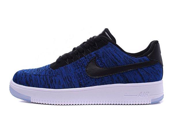 Men's Nike Air Force 1 Ultra Flyknit Low Blue Black Sneakers