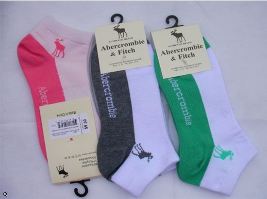 Abercrombie & Fitch 'One Size Fits All' Ankle Socks (More Extended Colors) (Shipping Included)