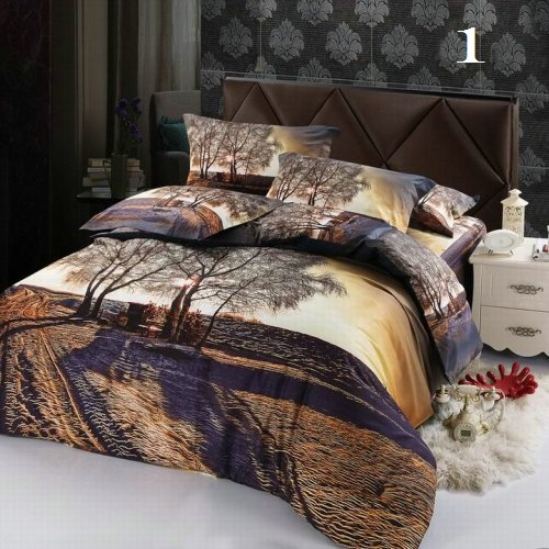Nature's Tropical Luxury High-Quality 6 Pc Brand Bed-Set D