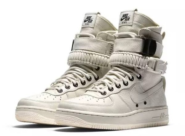 Ladies Nike Special Field Air Force 1 Light Bone & Sail Sneakers Boots