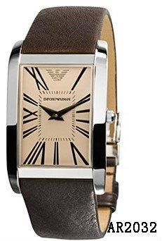Men's Emporio Armani Analog Leather Luxury Watch
