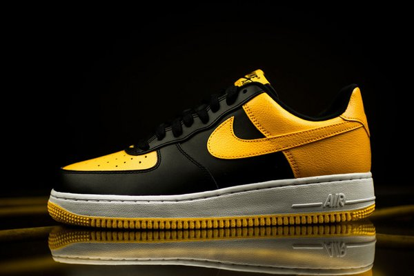 Men's Nike Air Force 1 Low Black & University Gold Sneakers