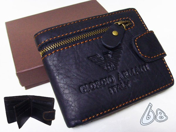 Men's Armani Custom Leather Bi-fold Wallet D