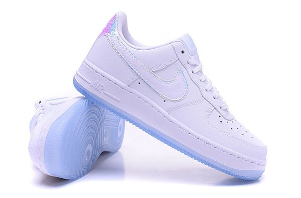 Ladies Nike Air Force 1 07 Low White & Blue Tint Premium Iridescent Sneakers
