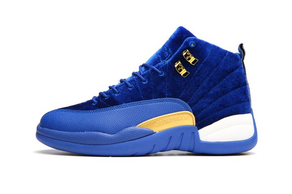 """Air Jordan 12 Retro """"Blue Leather Suede"""" Sneaker (Special Limited Edition)"""