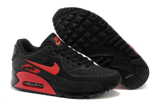 Ladies Retro Nike Air Max 90 Black/Red Sneakers