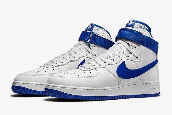 Men's Nike Air Force 1 High Retro QS Summit White & Royal Blue Sneakers
