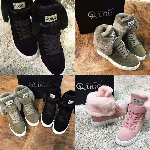 Ladies UGG Special Edition Custom High-Top Croft Luxe Sneaker Boots (USA LADIES SIZE 5 - 8 ONLY)