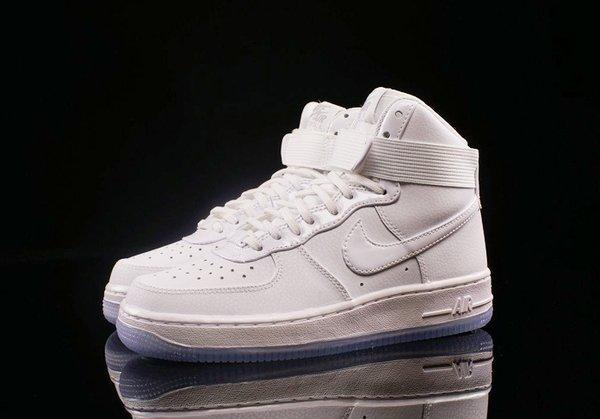 Ladies Nike Air Force 1 Hi White Sneakers