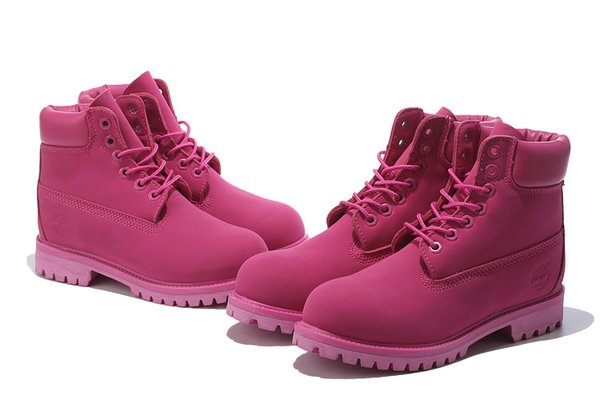 Ladies Timberland Classic Solid Pink Boots