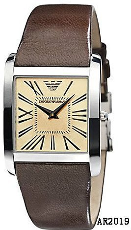 Emporio Armani Analog Brown Ar2019 Leather Watch