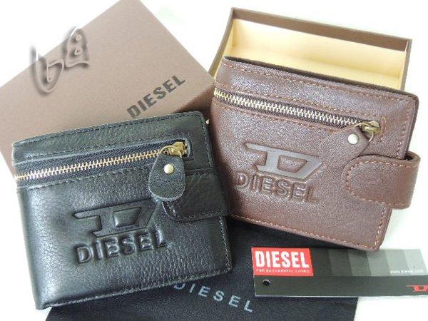 Men's Diesel Custom Leather Bi-fold Classic Wallet