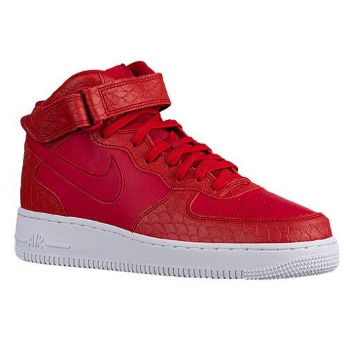 Men's Nike Air Force 1 Mid Red Sneakers
