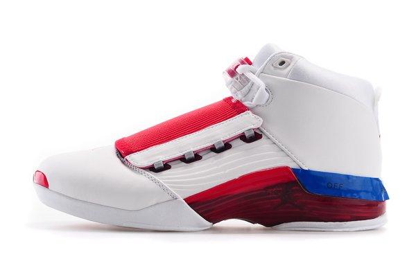 Air Jordan XVII (17) Low Retro White/Red Mule Sneaker