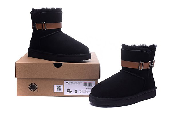 Ladies UGG Black Custom Cambridge Single Strap Boots (USA LADIES SIZE 5 - 8 ONLY)