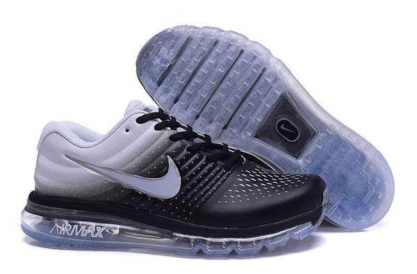 Men's Nike 2017 Black/Grey Air Max Running Shoe