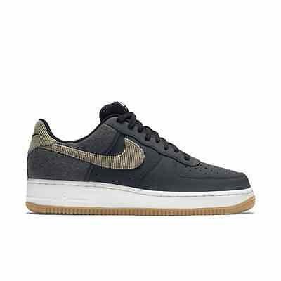 Men's Nike Air Force 1 Low Custom iD Pigeon Anthracite Bamboo Black Sneakers
