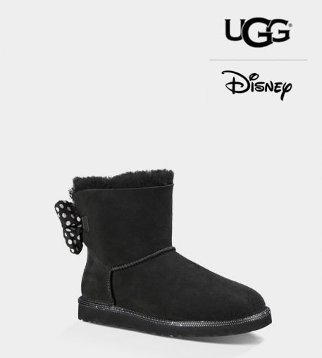 Ladies UGG Black Custom Sweetie Bow Disney Boots (USA LADIES SIZE 5 - 8 ONLY)