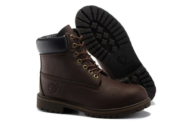 Men's Timberland 6 Inch New 10061 Black Collar Boots (2 Colors Available)
