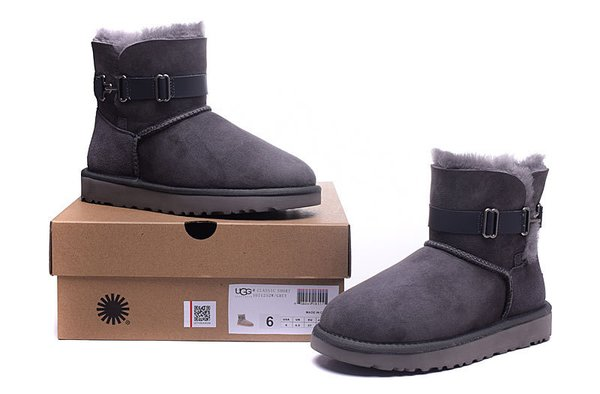 Ladies UGG Grey Custom Cambridge Single Strap Boots (USA LADIES SIZE 5 - 8 ONLY)