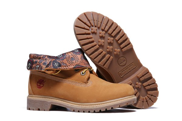 Ladies Wheat Timberland Authentic Fold-Down Boots