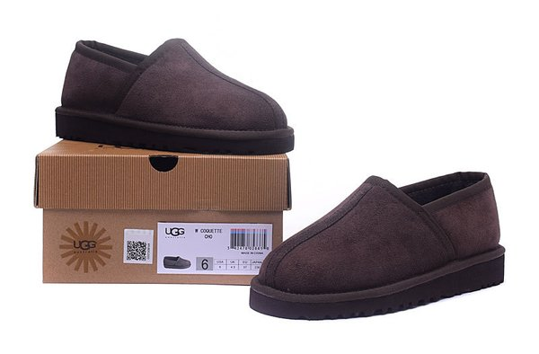Ladies UGG Custom Classic Slipper Brown Sheepskin Wool House-Shoes (USA LADIES SIZE 5 - 12 ONLY)