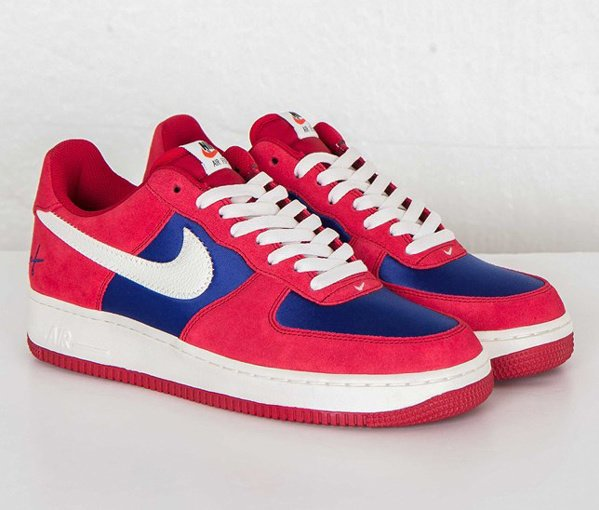 Men's Nike Air Force 1 07 Low Gym Red Sail-Deep Royal Blue Sneakers