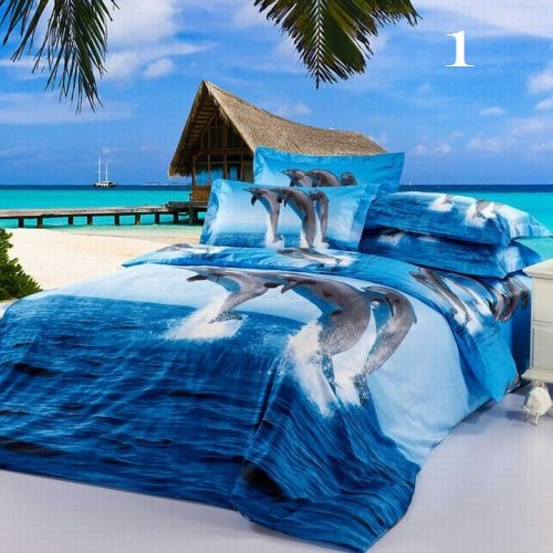 Nature's Tropical Luxury High-Quality 6 Pc Brand Bed-Set E