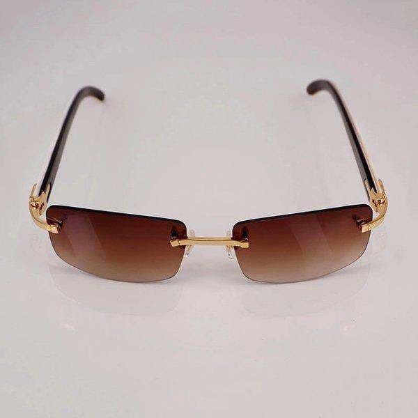"cartier ""c"" décor vintage white buffalo horn rimless sunglasses"