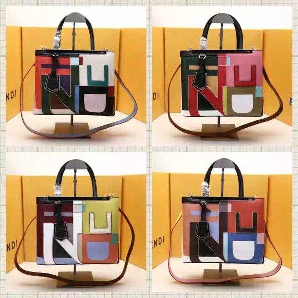 Vintage Fendi 2Jours Medium Disordered Satchel Bag, Multi