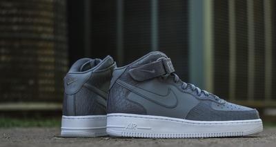 Men's Nike Air Force 1 Mid Grey Sneakers