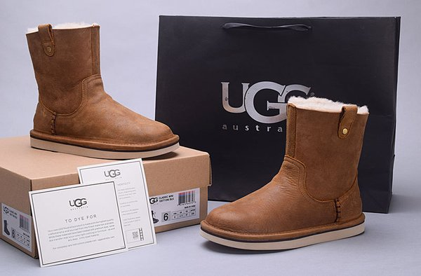 Ladies UGG Custom Brown Sheepkin Leather Sequoia Boots (USA LADIES SIZE 5 - 8 ONLY)