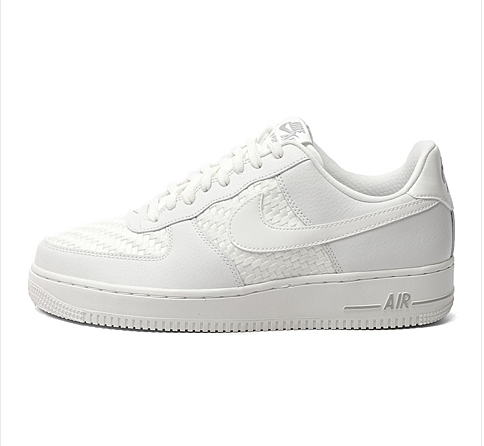 Men's Nike Air Force 1 07 LV8 Summit White & Chrome Sneakers