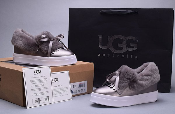 Ladies UGG Custom Low-Top Croft Luxe Grey Sneakers (USA LADIES SIZE 5 - 8 ONLY)