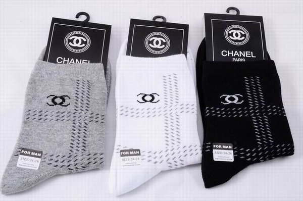 Chanel Track Print Luxury Striped CC Logo Casual Socks 1399589