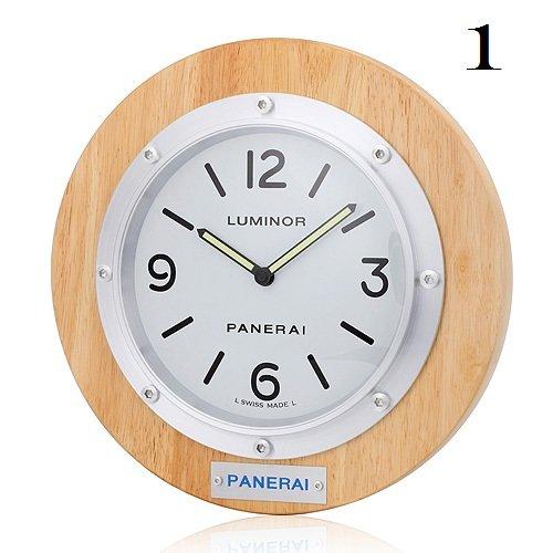 Panerai Luminor Luxury Round Oak Wood Wall Clock (Limited)