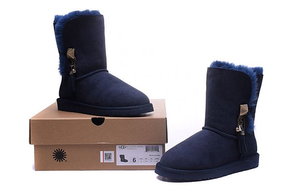 Ladies UGG Custom Blue Twinface Lilou Boots (USA LADIES SIZE 5 - 8 ONLY)