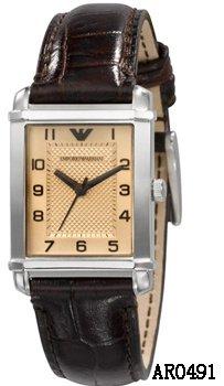 Ladies Emporio Armani Slimline AR0491 Stainless Steel & Leather Watch