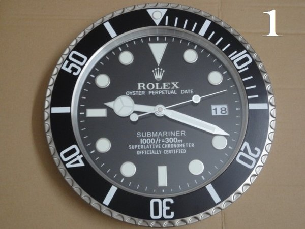ROLEX XL Submariner Series All Black Luxury Wall Clock