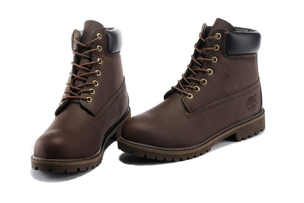 Men's Timberland 6 Inch 10061-Brown Black Boots