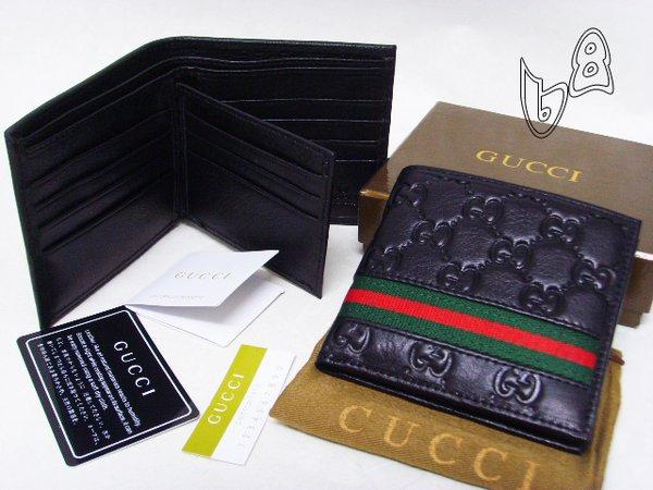 Men's Gucci Leather Custom Elastic Signature Wallet