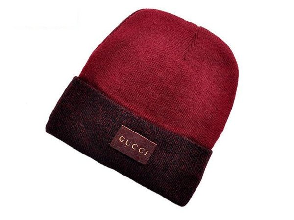 Men's Gucci Custom Knit Wool Web Hat
