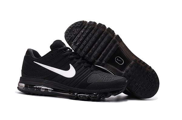 Ladies Nike 2017 Black/White Air Max Running Shoe