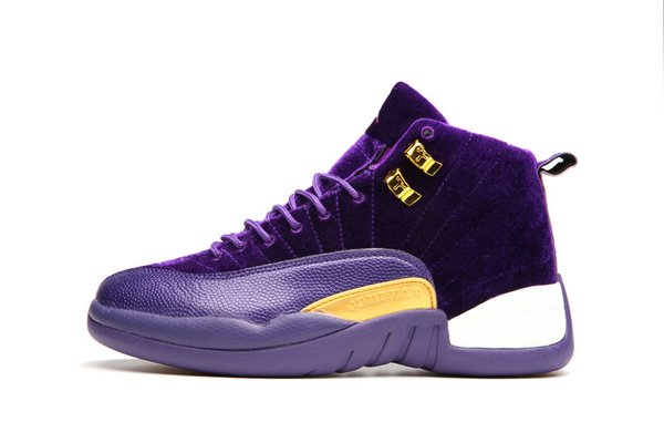 """Air Jordan 12 Retro """"Purple Leather Suede"""" Sneaker (Special Limited Edition)"""